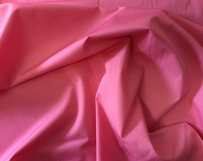 High quality cotton poplin dyed in Japan. mid pink no2