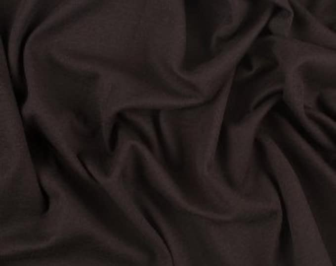 High quality cotton poplin dyed in JapaN. Dark brown grey no69