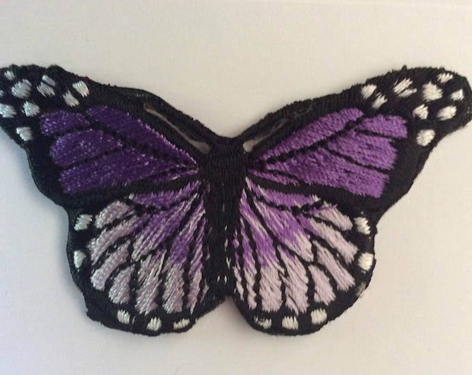 Embroidered butterfly appliqué
