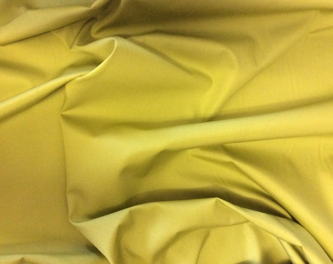 High quality cotton poplin dyed in JapaN. Yellow green no3