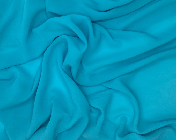 High quality Faux Silk Chiffon, very close to genuine silk chiffon. Green Water Dark No25