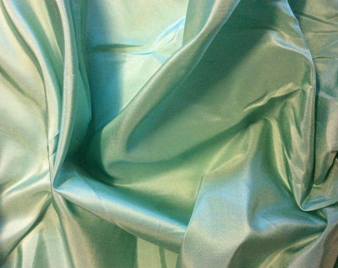 Pure silk fabric, pastel green