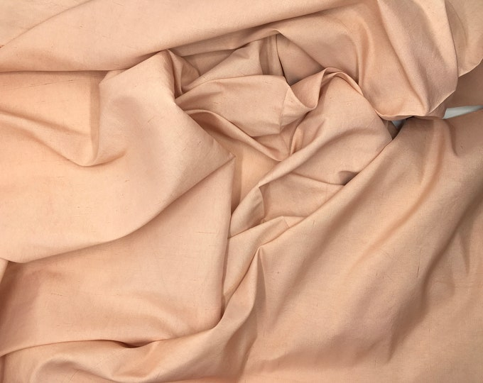 Pure dupioni silk fabric, powder pink
