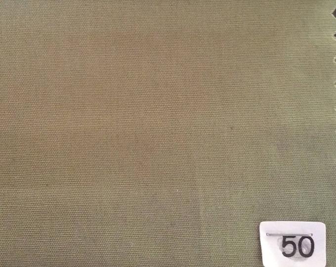 High quality cotton poplin dyed in Japan, khaki nr50
