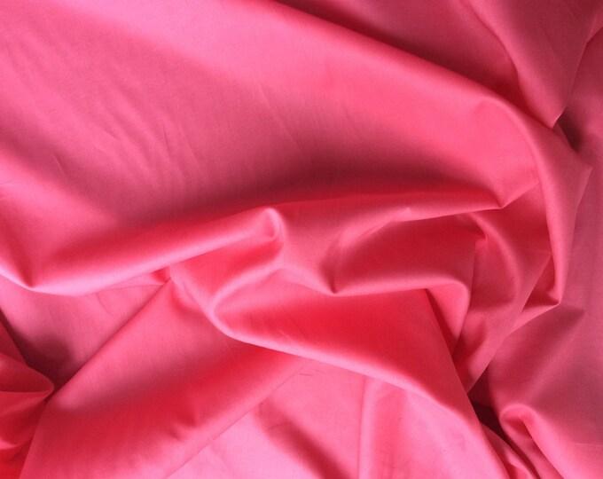 Plain cotton lawn fabric, soft raspberry no53