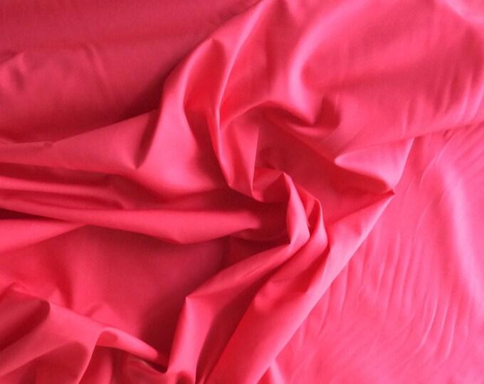 High quality cotton poplin, dark coral pink no15