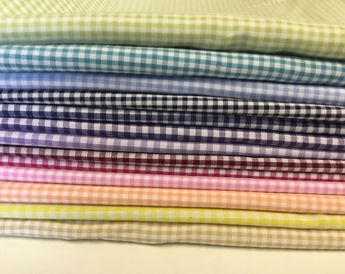 50% off: 3m25 Check poly cotton fabric