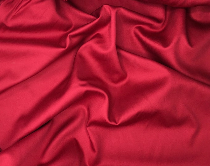High quality cotton satin, dark raspberry nr36