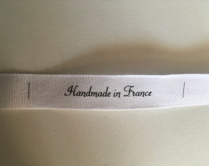 10 woven labels, «handmade in France»