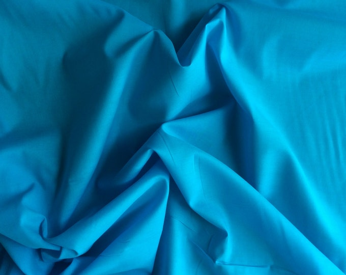 High quality cotton lawn dyed in Japan, turquoise