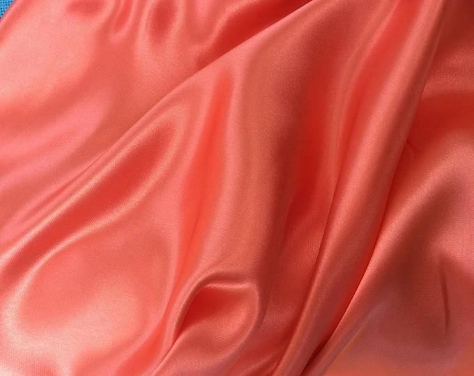 High quality silky satin, very close to genuine silk satin. Apricot No42