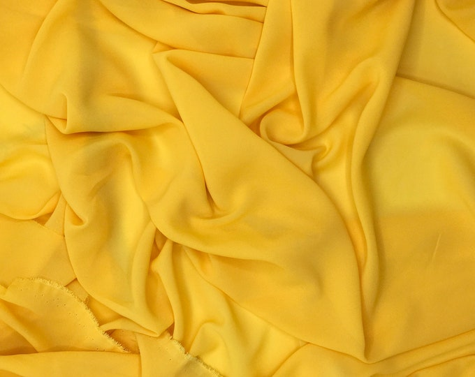 High quality Faux Silk Chiffon. Curry yellow n89