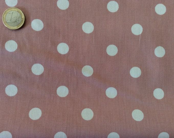 High quality cotton poplin dyed in Japan with polka dots