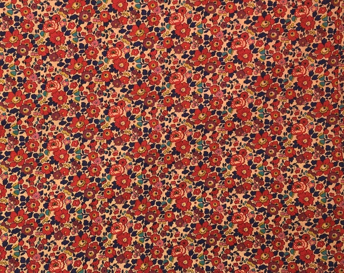 Tana lawn fabric from Liberty of London, exclusive Betsy Ann Sepia