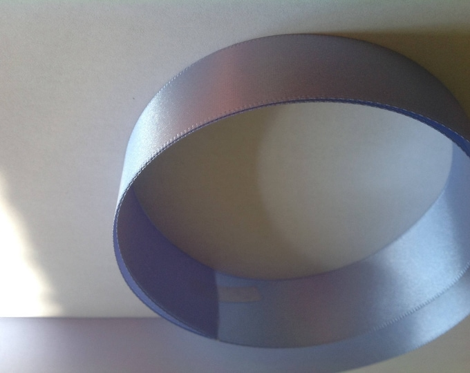 Soft blue double sided sateen ribbon