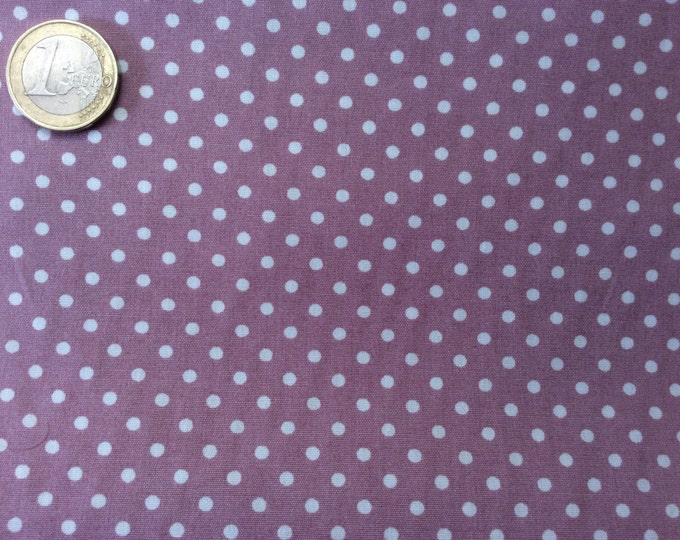 High quality cotton poplin dyed in Japan with 3mm polka dots no33