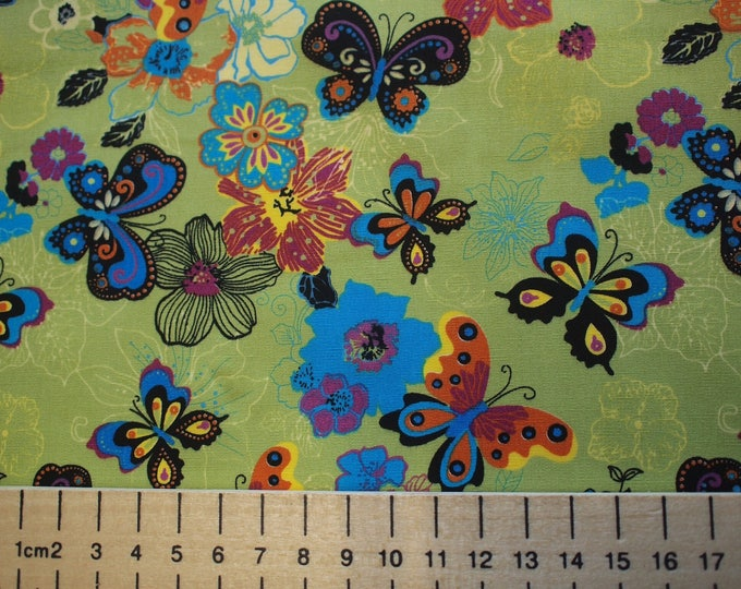 High quality cotton poplin, butterflies