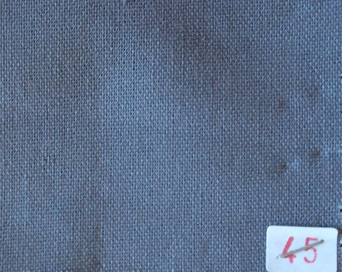 High quality soft cotton canvas dyed in Japan, grey nr45