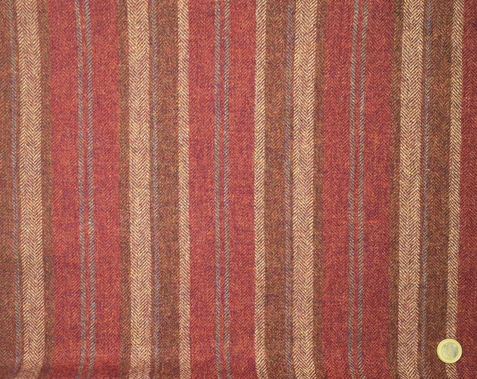Genuine Shetland pure wool fabric, Woven stripes