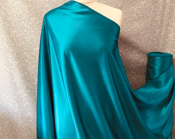 Duck blue nr35, High quality silky satin back, close to genuine silk crepe, backed crepe.