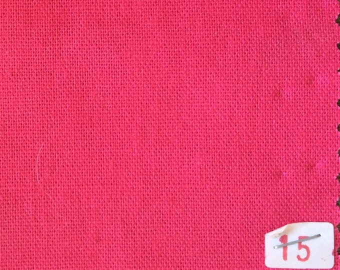 High quality soft cotton canvas dyed in Japan, hot pink nr15