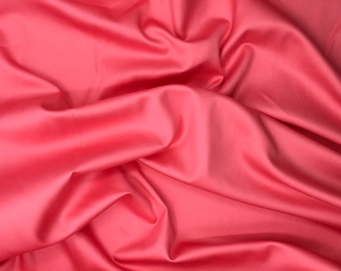 High quality cotton sateen dyed in Japan, coral pink or salmon nr7