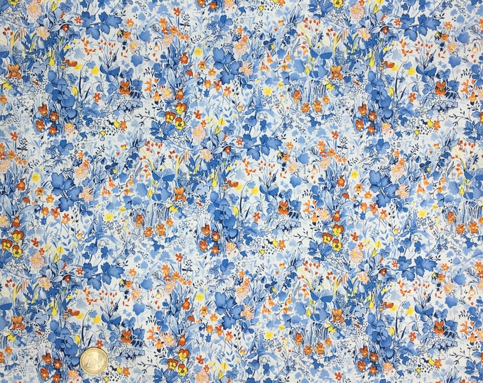 English Pima lawn cotton fabric, priced per 25cm. Clair de lune