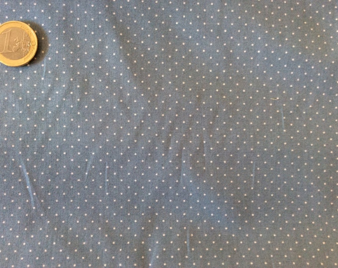 High quality cotton poplin dyed in Japan with 1mm polka dots nr6
