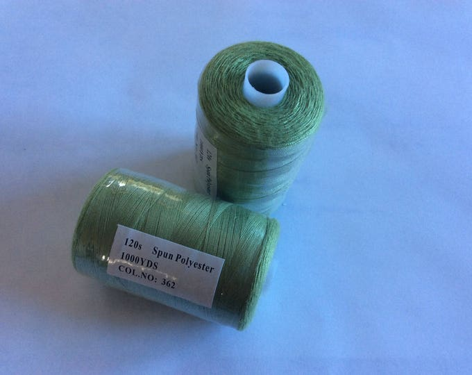 Sewing thread, 1000yds or 915m, almond green
