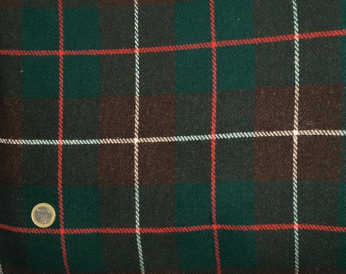 Genuine Shetland wool fabric, check weave