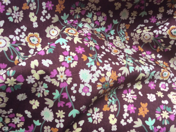 High quality cotton poplin dyed in Japan with Floral print, brown