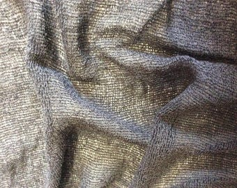 Cotton fabric woven wide anthracite. Width 1 m 40