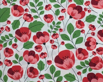 High quality cotton poplin with poppies