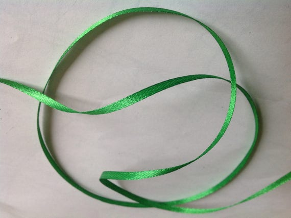 Double sided sateen ribbon, grass green