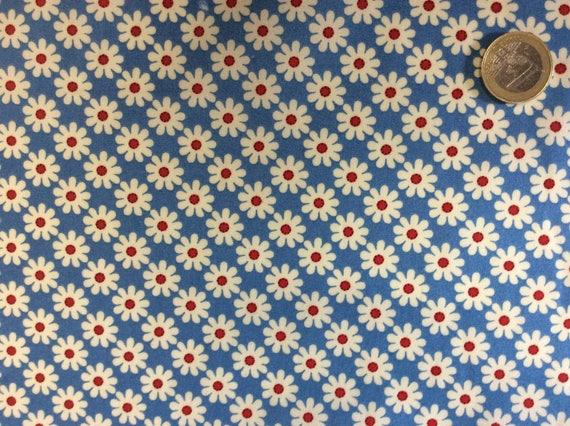 High quality cotton poplin, retro floral print