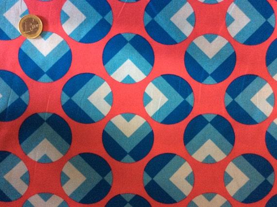 High quality cotton poplin dyed in Japan, geometrical print