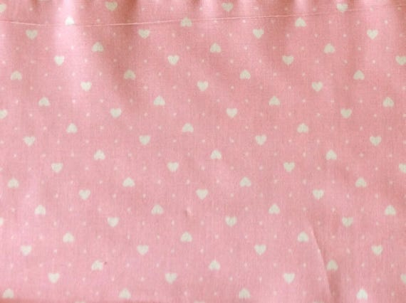 Hupigh quality cotton poplin printed in Japan, white/pink hearts
