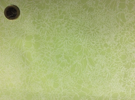 High quality cotton poplin dyed in Japan, pistachio green floral print