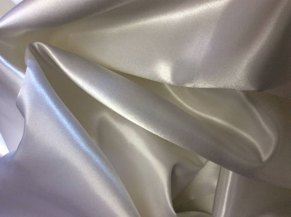 Off white duchess sateen fabric