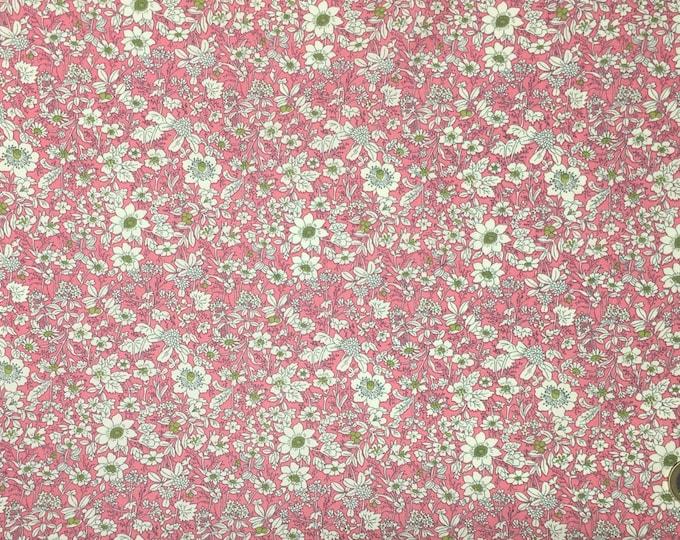 High quality cotton poplin prit Edna in Japan, pink floral print