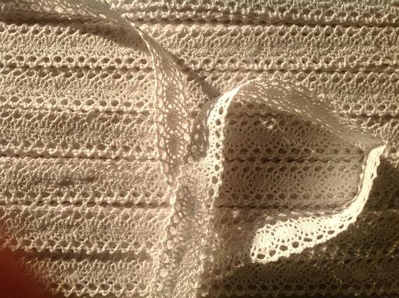 Cotton lace ribbon, white