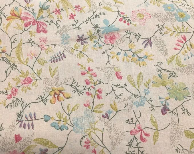 English Pima lawn cotton fabric, Summer Field