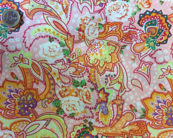 High quality cotton poplin dyed in Japan, paisley print