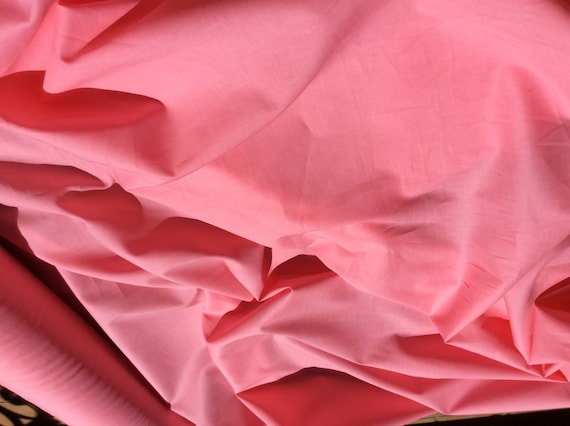 High quality cotton lawn dyed in Japan. Coral no22
