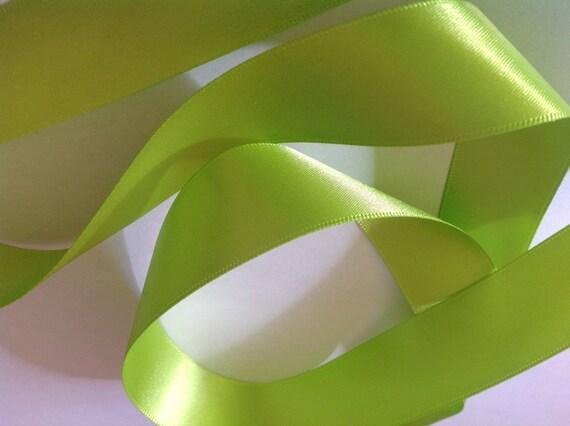 Apple' green double sided sateen ribbon