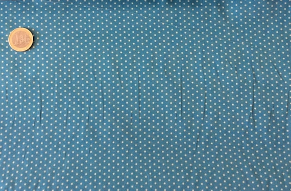 High quality cotton poplin dyed in Japan with 2mm polka dots no12
