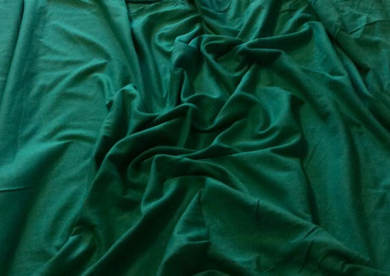 Dark green cotton/viscose cotton jersey fabric