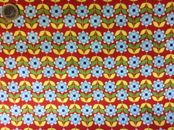 High quality cotton poplin dyed in Japan, floral print