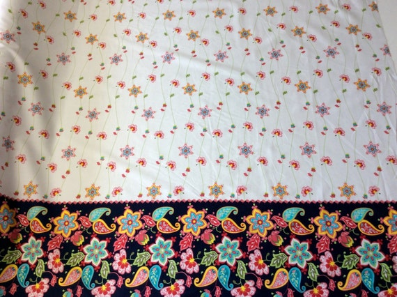 High quality cotton poplin dyed in Japan with decorative border
