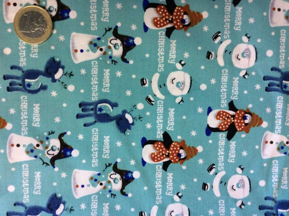 High quality cotton poplin dyed in Japan with Christmas print